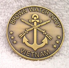 Brown Water Navy Vietnam Military Veteran Challenge Coin 22320 Ho