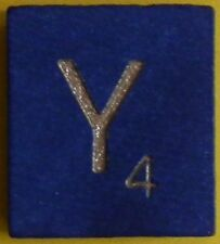 Scrabble Tiles Replacement Letter Y Blue Wooden Craft Game Part Piece 50th Ann.