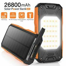 AMZGO Solar Charger 26800mAh, Solar Power Bank Portable USB C PD 18W Fast