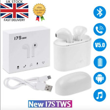 Wireless TWS i7S Bluetooth Headphones Earphones Earbuds Music Charger Any Device
