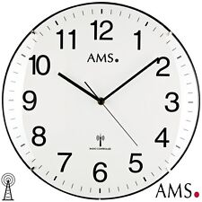 Ams 44 Wall Clock Rc Work Room Radio Controlled Office Workshop Watch Ø 32 Cm