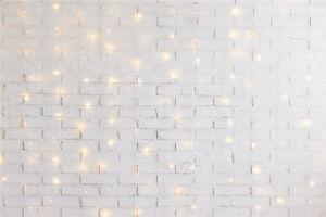 10X8FT Vinyl Studio Backdrop Background Rustic Wood Snowflakes Xmas Tree Balls