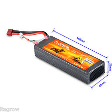 FLOUREON Lipo RC Battery 7.4V 7000mAh 2S 25C Pack Deans Plug RC Helicopter Car