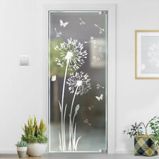 Pusteblume Glasdekor Glastür Aufkleber Glastattoo für Tür Sandstrahloptik g332