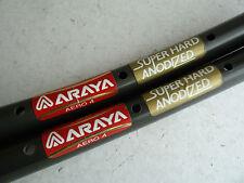 vintage Araya Aero 4 tubular rims, pair, 36 hole, 700c, VGC