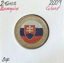 2 EURO - SLOVAQUIE - 2009 // Pièce Colorisée en Qualité : SUP