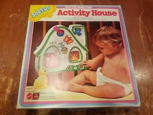 1978 Mattel Baby Toys Activity House Crib Toy Complete