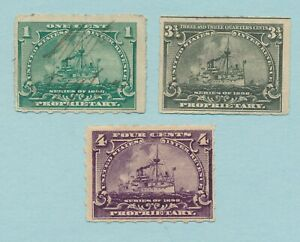 USA HYPHEN HOLE PROPRIETARY STAMP SCOTT VF NH OG #RB30p VF USED #'s RB24p RB29p