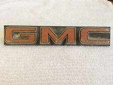 VTG 1975-76 GMC Jimmy Sierra Classic Emblem l Nameplate Trim Decal OEM 343914