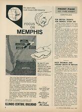 1959 Illinois Central Railroad Ad Industrial Property For Sale Memphis TN