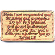 BIBLE QUOTES BIBLE SAYS 3D MORALE BADGE TACTICAL PATCHES HOOK & LOOP PATCH -06