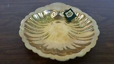 Vintage Gold Nautalus Clam Shell Dish - Made in Germany - Gilde Handwerk