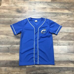 Columbus Clippers Minor League Baseball Jersey Youth Kids Boys Size XL Blue Ohio