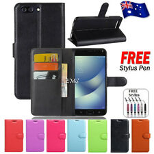 """Leather Wallet Card Holder Flip Case Cover For ASUS ZenFone 4   4 Max 5.5"""""""