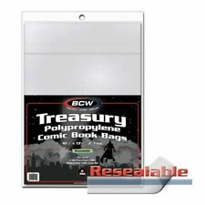 Treasury Size Comic Bags, Reaseable x 100 bag pack