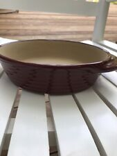 """Pampered Chef Cranberry Red Round Baking Dish 1 Qt 5122 8 X 2"""""""