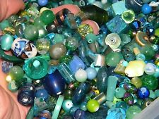 NEW 1/2 Pound Mixed Ocean BLUE/GREEN 6-15mm RANDOMLY picked LOOSE Beads Lot