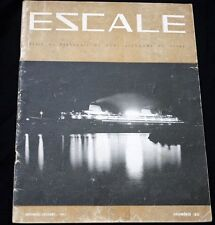 """CGT FRENCH LINE SS """"FRANCE""""Escale Magazine 1961"""