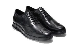 NEW Cole Haan Zerogrand Leather Wingtip Shoes 11 M Black $190
