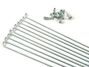 10 x 14G BICYCLE BIKE STEEL SPOKES WITH NIPPLES 80 mm -197 mm