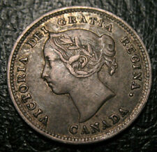 OLD CANADIAN COINS 1888 CANADA SILVER 5 CENTS NICE DETAILS