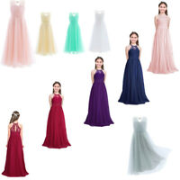 Flowers Girls Maxi Dress Princess Party Wedding Bridesmaid Formal Gown Dresses