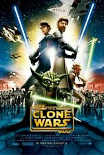 STAR WARS: THE CLONE WARS (2008) ORIGINAL MOVIE POSTER -  ROLLED -  DOUBLE-SIDED