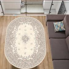 Wollteppich Klassisch Orientalisch Schurwolle APART DA Creme Oval versch. Größen