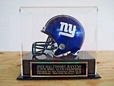 Display Case For Your Baltimore Ravens Super Bowl 47 Signed Football Mini Helmet