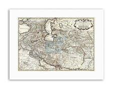 MAPPA Antico Medio Oriente l'Iran Persia de Lisle FOTO STAMPE SU TELA ART