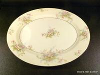 "APPLE BLOSSOM by THEODORE HAVILAND New York~ Oval Serving Platter ~ 14"""