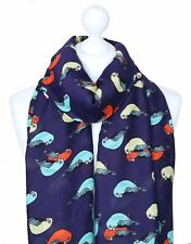 Parrot Parakeet Scarf Large Cream Womens Bird Print Ladies Tropical Animal Gifts