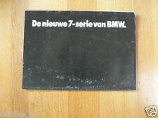BMW DE NIEUWE 7-SERIE VAN BMW BROCHURE PROSPEKT FOLDER