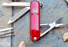 Victorinox Classic Sd Translucent Ruby Orignal Swiss Army Knife 54211 New