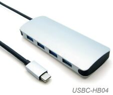 USB-3.1 Type-C Male to 4-Port USB-3.0 Type-A Female Hub, USBC-HB04