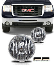 2007-2013 GMC Sierra Replacement Fog Lights Housing Clear Lens Front PAIR