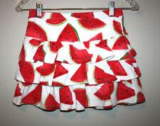 Girls Gymboree Red White Green Watermelon Fruit Print Tiered Skirt Skort Size 9