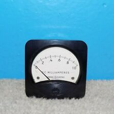 Ge General Electric Dc Milliamperes Panel Meter 0 1 Ma Type Do 71 3 X 3
