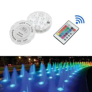 Remote Control RGB Lamp Underwater Spot Light Garden Fountain Ponds LED Light