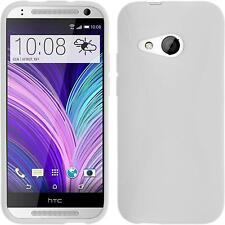 Coque en Silicone HTC One Mini 2 - X-Style blanc + films de protection