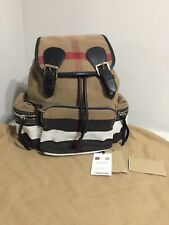 Burberry Medium Rucksack Canvas Check and Leather Backpack