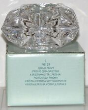 "PartyLite ""QUAD PRISM 24% LEAD CRYSTAL VOTIVE HOLDER"" P0129 - party demo only"