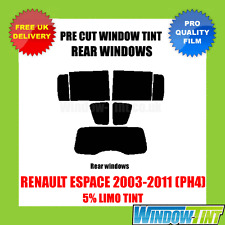 RENAULT ESPACE 03-11 PH4 5% LIMOUSINE HINTEN VORGESCHNITTENE SCHEIBENTÖNUNG