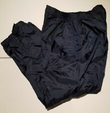 Men's Navy Nylon Lined Water Resistant Snow Pants
