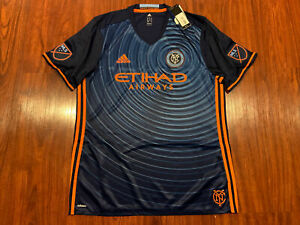 2016 Adidas Men's New York City FC NYCFC Soccer Jersey XL Authentic Player MLS