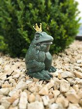 FROSCHKÖNIG aus Bronzeguss - Hübscher Frosch Deko für Haus & Garten Wasserspeier