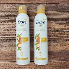 Lot of 2 Dove Body Wash Mousse Argan Oil 10.3 Oz. Concentrated Bath Beauty Relax
