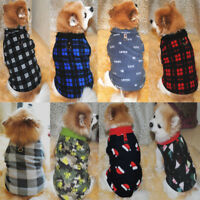 Warm Soft Pet Dog Fleece Harness Vest Jumper Sweater Coat Small Medium Jacket