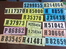 Group of 16 Michigan 1960's Back Tags from Deer and Small Game Hunting ~ HF9