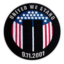 VEGASBEE® UNITED WE STAND COMMEMORATIVE NEW YORK 9-11 SEPTEMBER WTC TOWERS PATCH